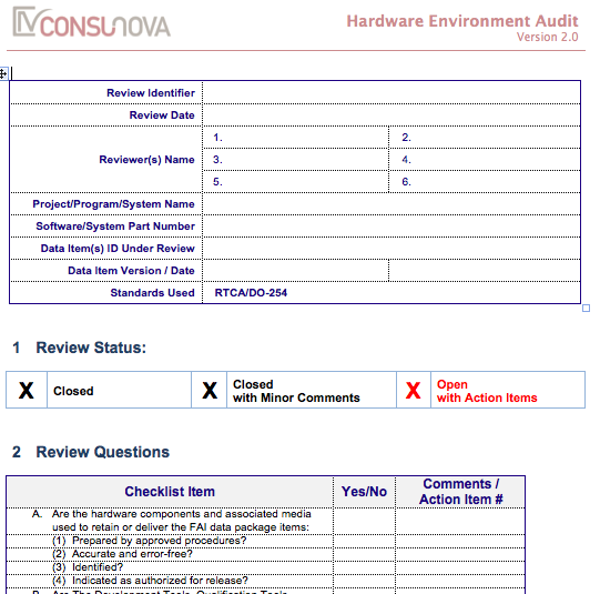 DO-254 PA Environment Audit