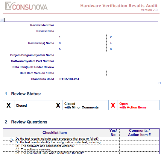 DO-254 PA Verification Results Audit