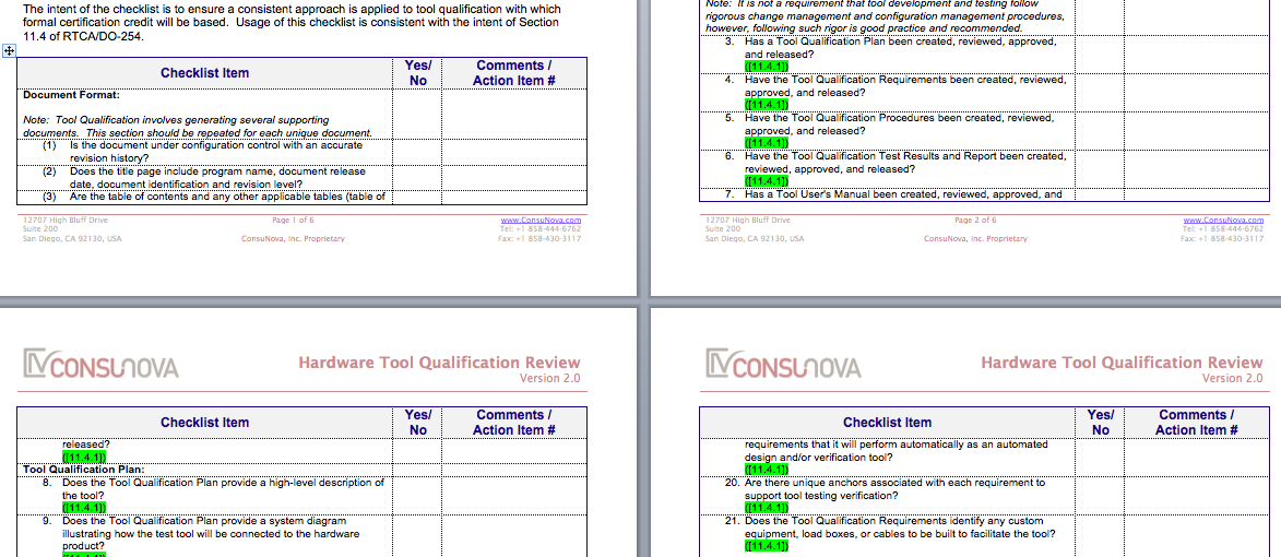 DO-254 Tool Qualification Checklist
