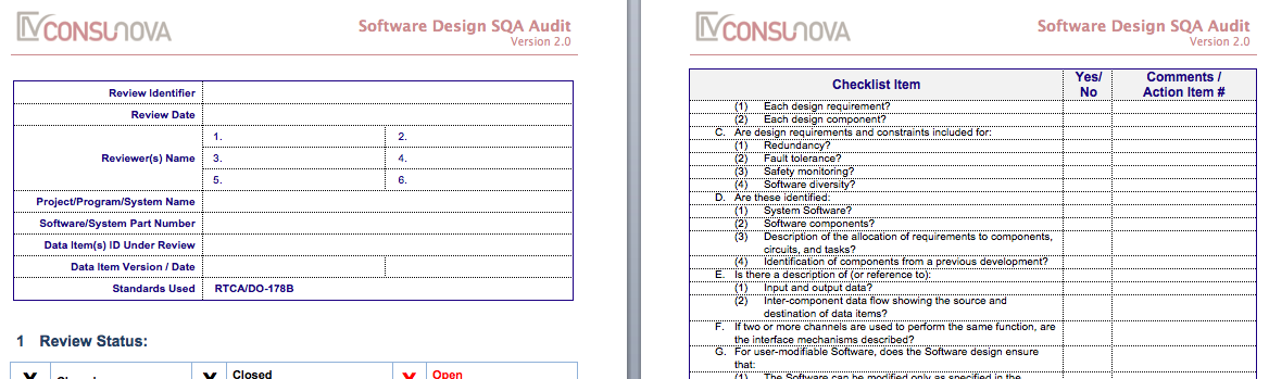 DO-178 SQA Design Description Audit (SDD)