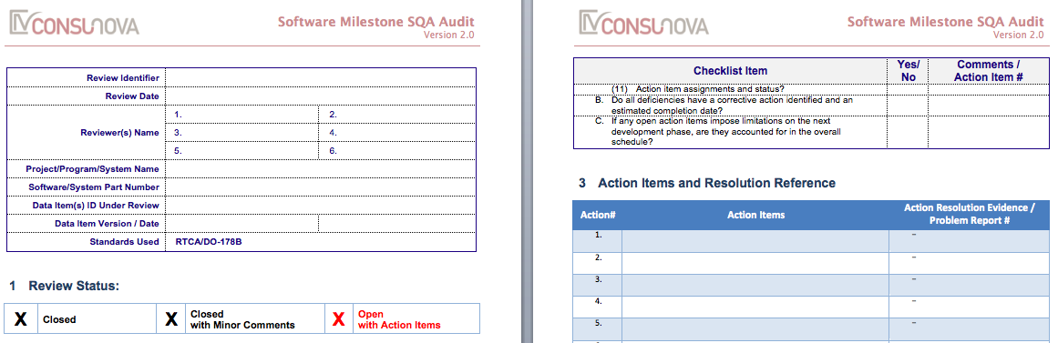 DO-178 SQA Software Milestone Audit